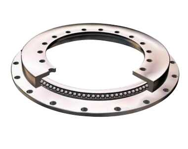 Single-row Four Point Contact Ball Slewing Bearing with flange (Non- gear teeth type)
