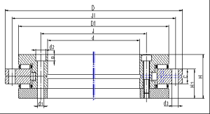 Cross roller bearing(RB Series)