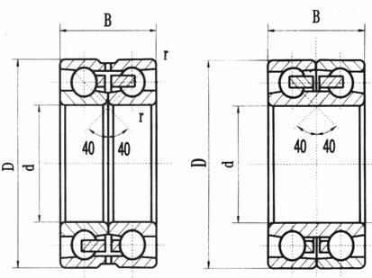 Ceramic Double Row Angular Contact Ball Bearings